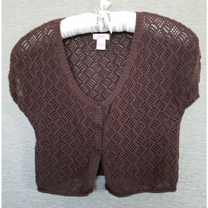 Candie's Knit Cropped Cardigan - Size XL